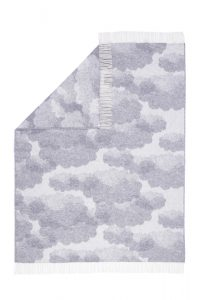 Wool jacquard blanket Clouds