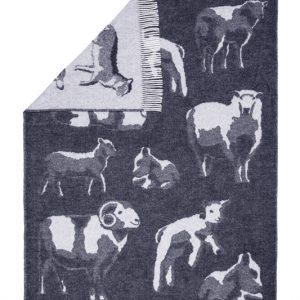 Wool jacquard blanket Family Lambs