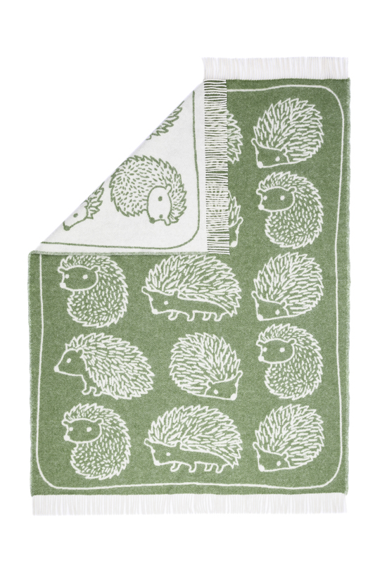 Wool jacquard blanket Hedgehog