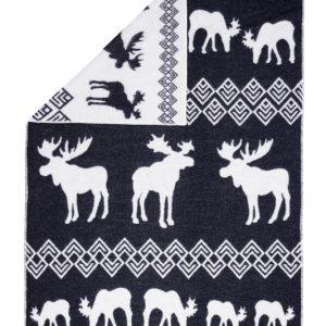 Wool jacquard blanket North Moose