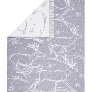 Wool jacquard blanket Run Deer 1