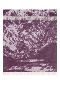 Wool jacquard blanket Mountain