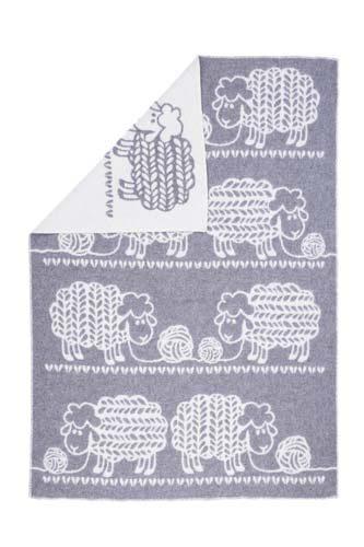 Wool jacquard blanket Knitted Sheep