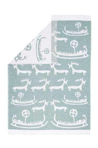 Wool jacquard blanket New Viking