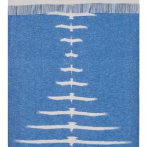 Wool jacquard blanket Symmetry Birds