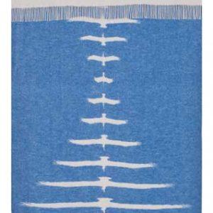 Wool jacquard blanket Symmetry Birds