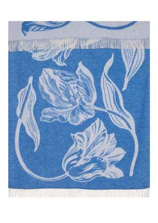Wool jacquard blanket Tulip