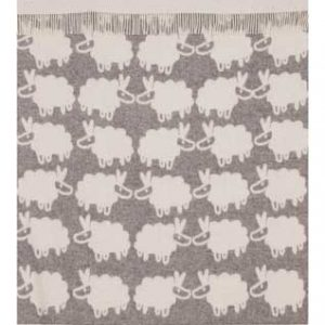 Wool jacquard blanket Princess Sheep