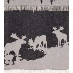 Wool jacquard blanket Moose Lake
