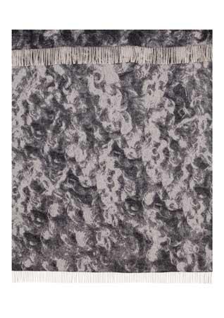 Wool jacquard blanket Wool