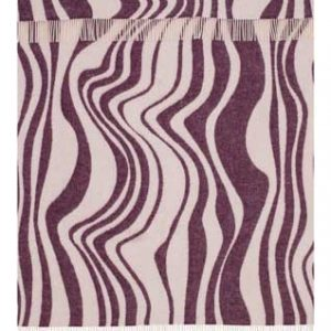 Wool jacquard blanket Wave