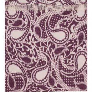 Wool jacquard blanket Paysley