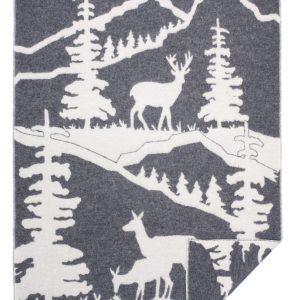 Wool jacquard blanket Animal Peak
