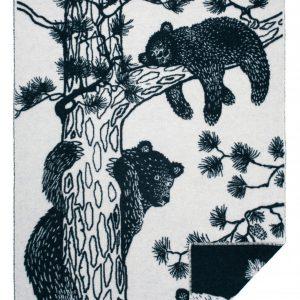 Wool jacquard blanket Tree Bear