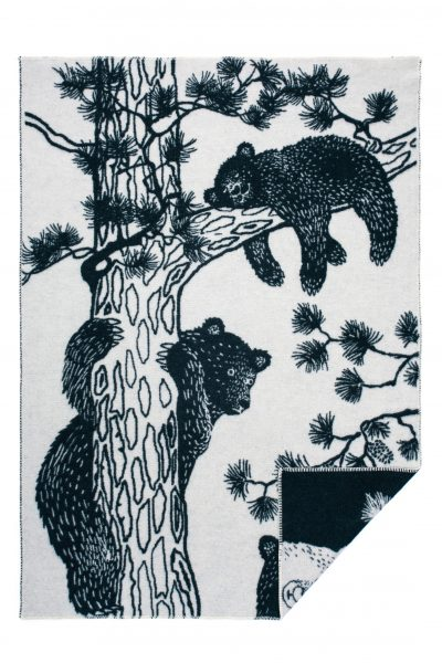 Wool jacquard blanket Tree Bear