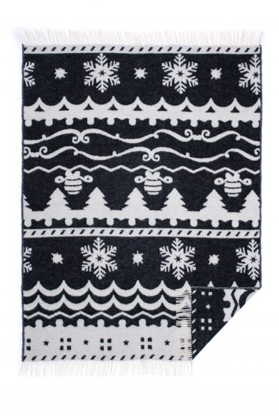 Wool jacquard blanket Winter Fiesta