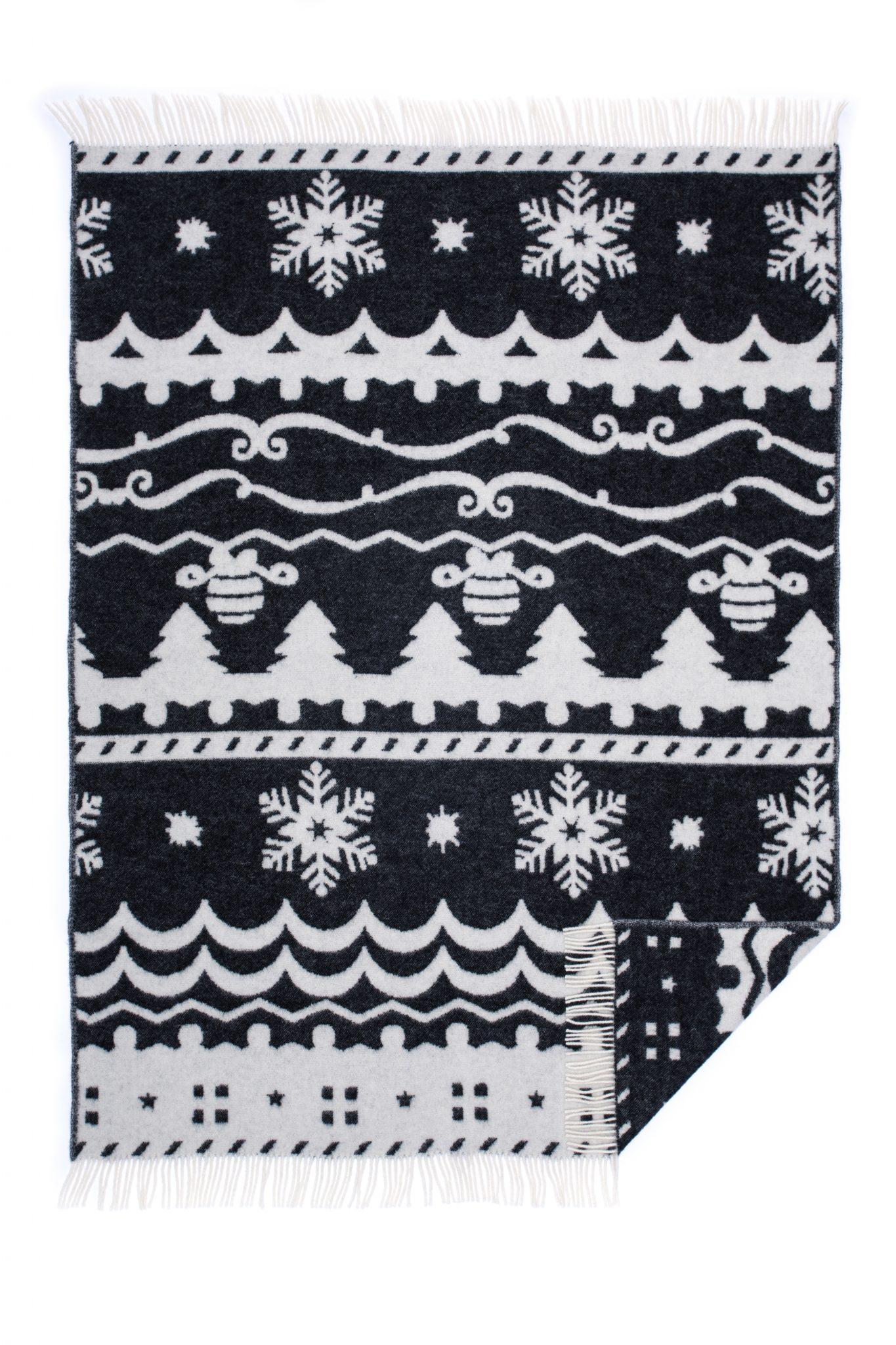 Wool jacquard blanket Winter Fiesta