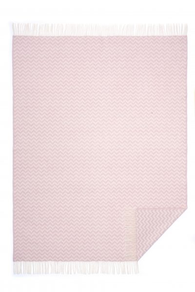 Wool jacquard blanket Zig Zag