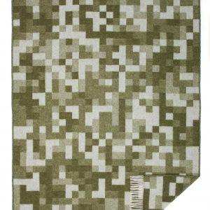 Wool jacquard blanket Pixel