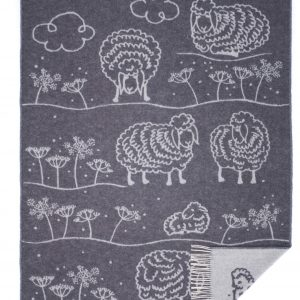 Wool jacquard blanket Grass Sheep