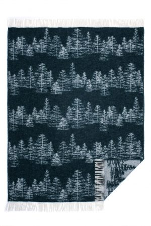 Wool jacquard blanket Winter Tree