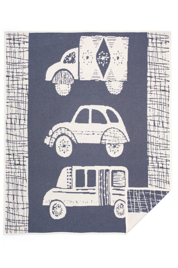 Cotton jacquard blanket Old Car