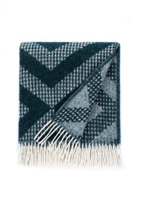 Wool blanket Waffle Diamond