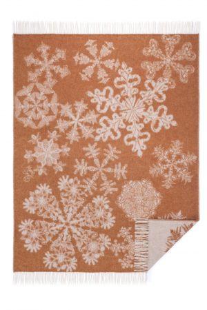 Wool jacquard blanket Gothic Snowflake