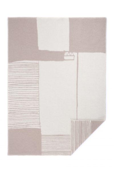 Wool jacquard blanket Bauhaus